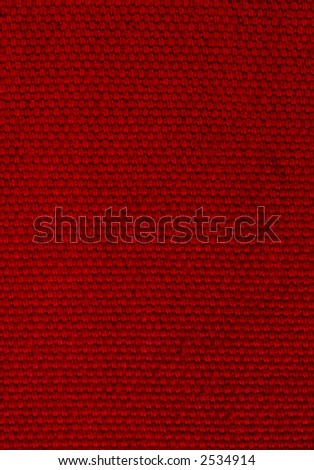 Deep Red Background of Woven Fabric - stock photo