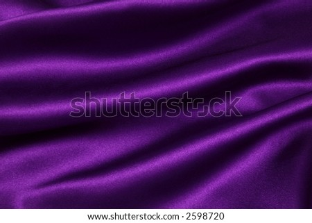 Deep, rich, purple satin. Folded and flowing background - stock photo