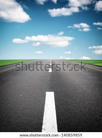 Deep road. Element of design. - stock photo