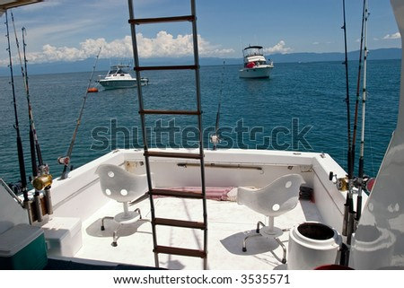 Deep sea fishing - stock photo