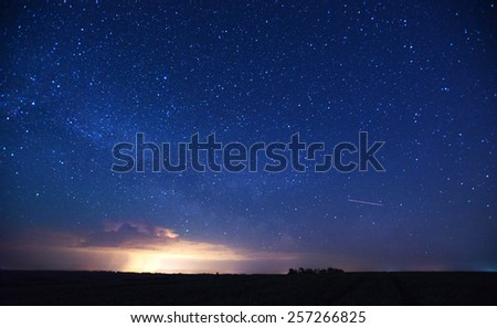 deep sky astrophoto - stock photo