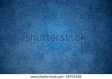 Deep Sky Blue plaster wall background. - stock photo