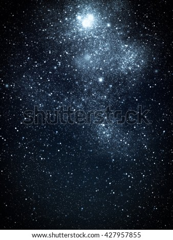 Deep space and starry star night. - stock photo