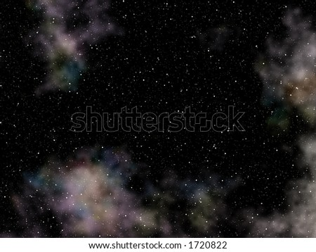 Deep Space Background with numerous stars - stock photo