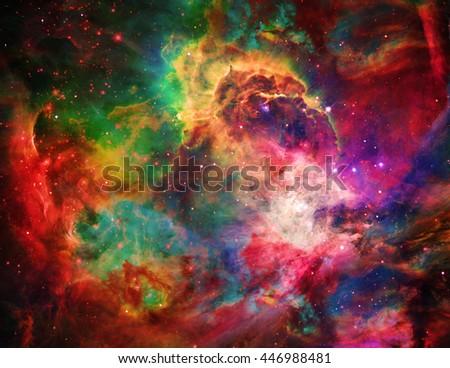 Deep Space 3D Render - stock photo