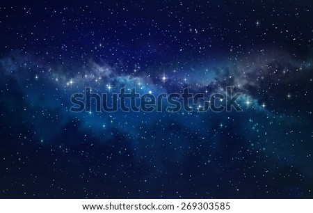 Deep space. High definition star field background - stock photo