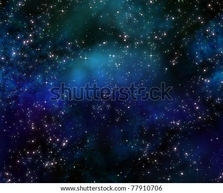 deep space night sky - stock photo