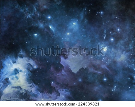 Deep Space series. Artistic background made of nebula, stars and colors for use with projects on astronomy, science, space and religion
