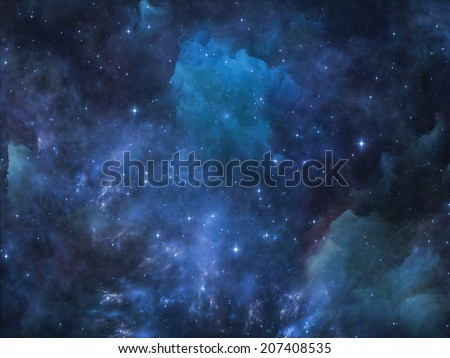 Deep Space series. Composition of nebula, stars and colors suitable as a backdrop for the projects on astronomy, science, space and religion