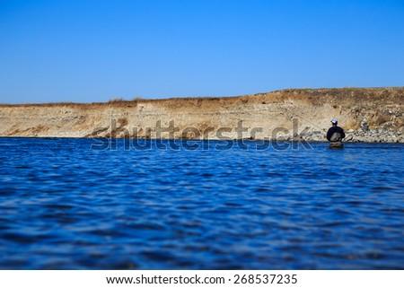 Deep Wading - stock photo