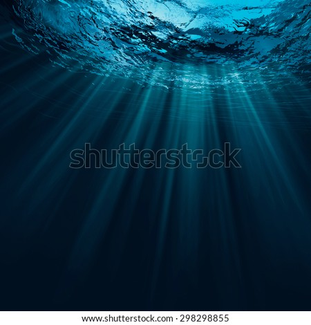 Deep water, abstract natural backgrounds - stock photo