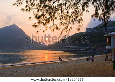 Deepwater Bay hong kong at sunset