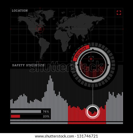 Defence infographic - stock photo