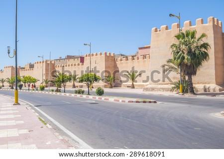 Defensive walls in Taroudant, Morocco - stock photo