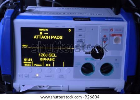 defibrillation - stock photo