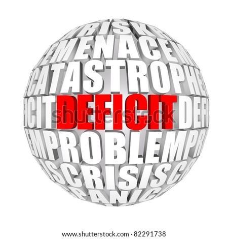 deficit - stock photo