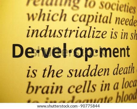 Definition: Development - stock photo