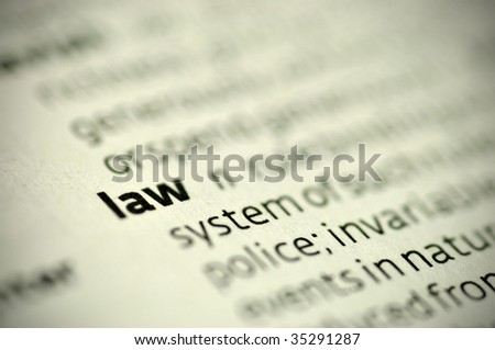 Definition: Law - stock photo