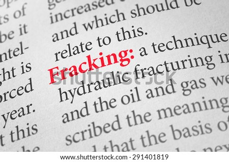 Definition of the word Fracking in a dictionary - stock photo
