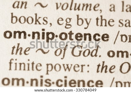 Definition of word omnipotence  in dictionary
