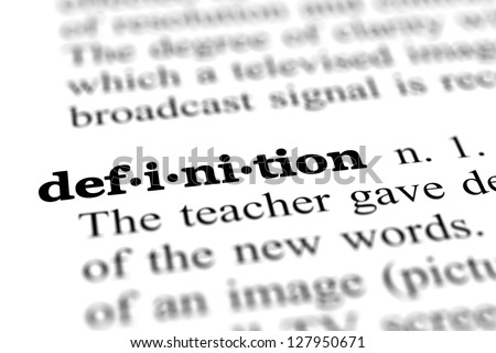 definition word from a free dictionary, close up - stock photo