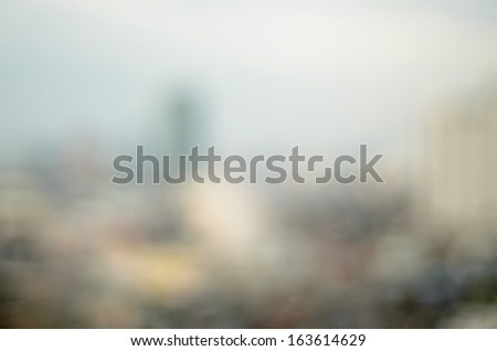 Defocus city - stock photo