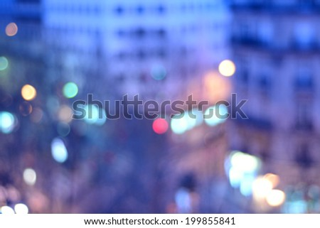 Defocus lighting of building taken in Paris - stock photo