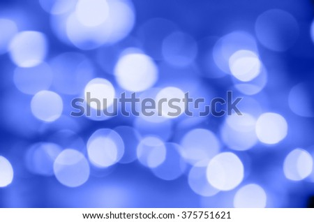 defocus of light with blue  background