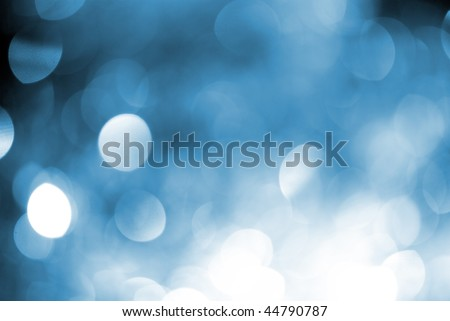 defocused abstract background of color night holiday lights - stock photo