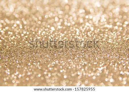 defocused abstract gold background - stock photo