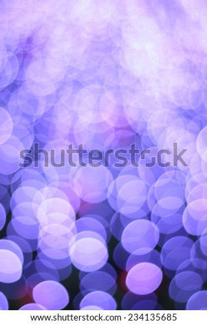 Defocused abstract light bokeh christmas background  - stock photo