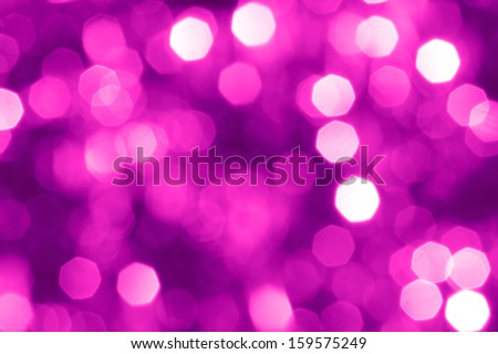 Defocused abstract pink christmas background - stock photo
