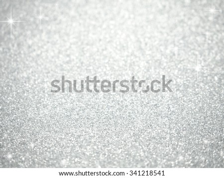 defocused abstract silver lights background - stock photo