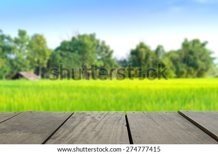 Defocused and blur image of terrace wood and agriculture life for background usage - stock photo