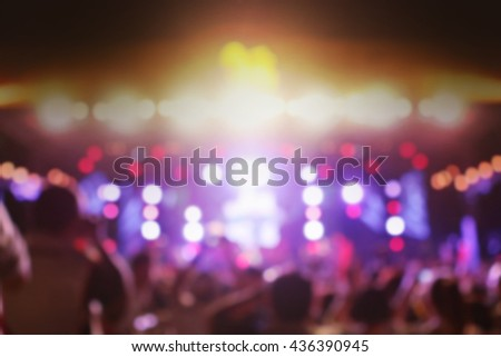Defocused background concert, blured night party - stock photo