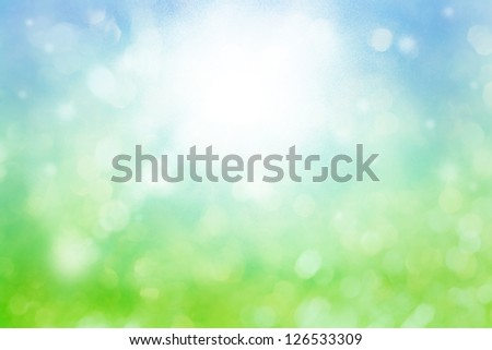 defocused background in green and blue colors - stock photo