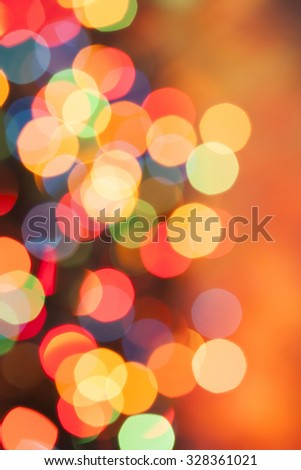 Defocused bokeh lights background - stock photo