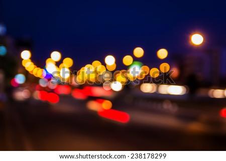 Defocused bokeh lights./ Defocused bokeh lights. - stock photo