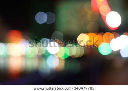 Defocused bokeh lights with beautiful color