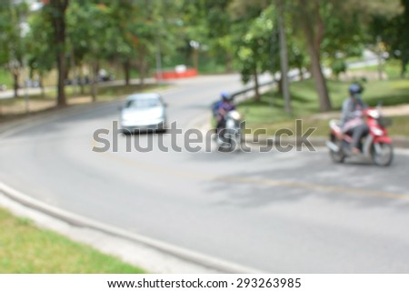 Defocused cars traffic streets with blurred background - stock photo