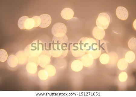 Defocused Christmas Bokeh light Vintage background.  Christmas background. - stock photo