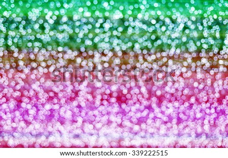 defocused christmas lights on colorful tone - stock photo