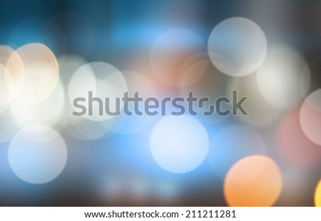 Defocused city night bokeh abstract background. Abstract light background. - stock photo