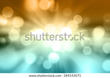 Defocused city night filtered bokeh abstract background. - stock photo