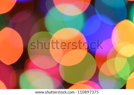 Defocused color background. Blurring the image colourful festive lights - stock photo