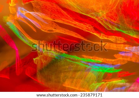 defocused colorful vivid lights  abstract background - stock photo