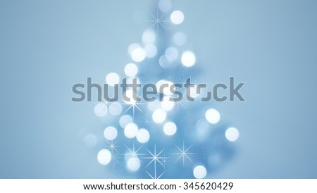 defocused decorated christmas tree. computer generated abstract background