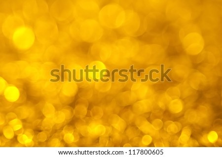 Defocused gold abstract christmas background - stock photo