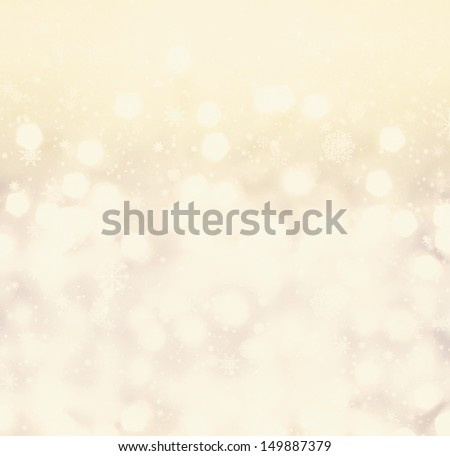 Defocused gold Bokeh light Vintage background.  Christmas background. - stock photo