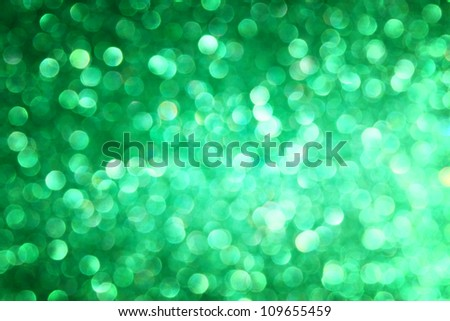 defocused green lights background photo - stock photo